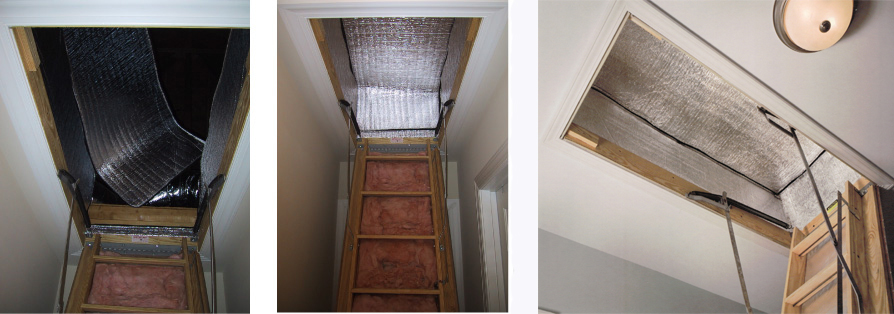 & Energy Saving Attic Access Products--Seal N Shield Attic Stair Insulator