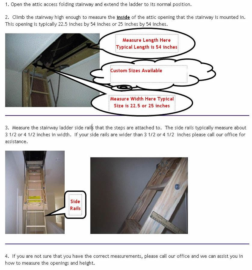 How to measure for a Seal N Shield Attic Stair Insulator